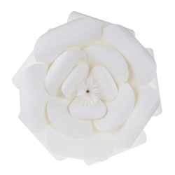 "Mega Crafts - 16"" Paper Craft Pedal Flower - White"
