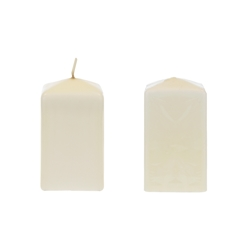 "Mega Candles - 2"" x 3"" Unscented Dome Top Square Pillar Candle - Ivory"
