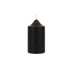 "Mega Candles - 2"" x 3"" Unscented Round Dome Top Pillar Candle - Black"