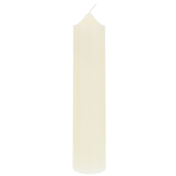 "Mega Candles - 2"" x 9"" Unscented Round Dome Top Pillar Candle - Ivory"