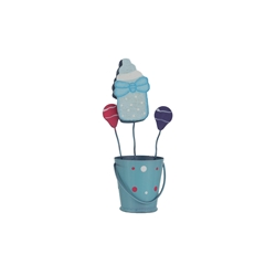 Mega Favors - Baby Bottle in Bucket Photo Holder - Blue