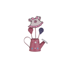 Mega Favors - Baby Clothes in Watering Can Photo Holder - Pink