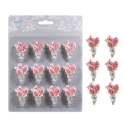 Mega Crafts - 12 pcs Tulips Poly Resin Embellishments - Pink