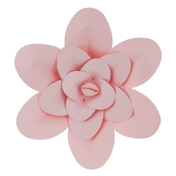 "Mega Crafts - 16"" Paper Craft Pedal Flower - Pink"