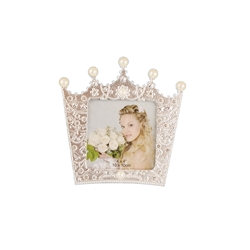 Mega Crafts - Sparkling Rhinestone Crown Design Picture Frame