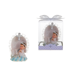 Mega Favors - Baby Angel Praying on Clouds in Gift Box - Blue