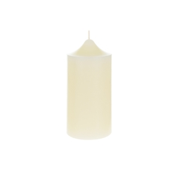 "Mega Candles - 3"" x 6"" Unscented Round Dome Top Pillar Candle - Ivory"