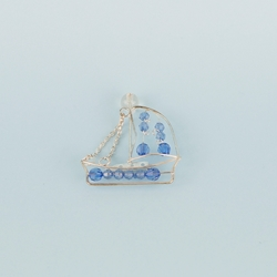 Mega Favors - Metal Sail Boat with Beads