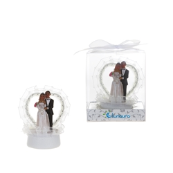 Mega Favors - Ethnic Wedding Couple Cake Topper Poly Resin in Gift Box