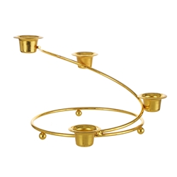 Mega Candles - Staircase Taper Metal Candle Holder - Gold