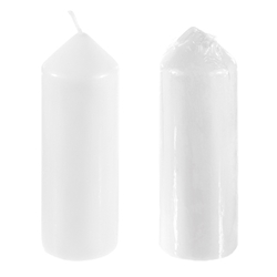 "Mega Candles - 2"" x 6"" Unscented Dome Top Event Pillar Candle - White"