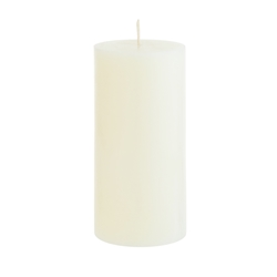 "Mega Candles - 3"" x 6"" Unscented Round Pillar Candle - Ivory"